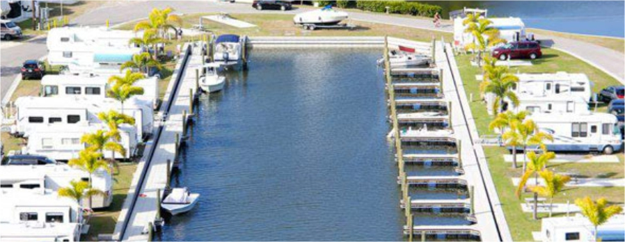 Aerial Boat Dock Channel